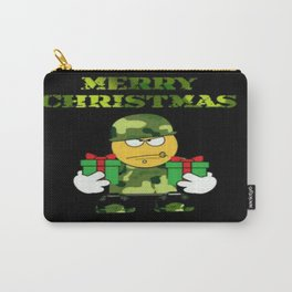 Merry Christmas emoji soldier Carry-All Pouch