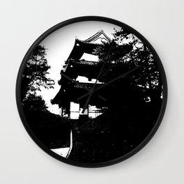 Nihongo tatemono Wall Clock