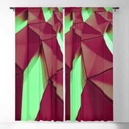 Dark Red & Kryptonite by Brian Vegas Blackout Curtain