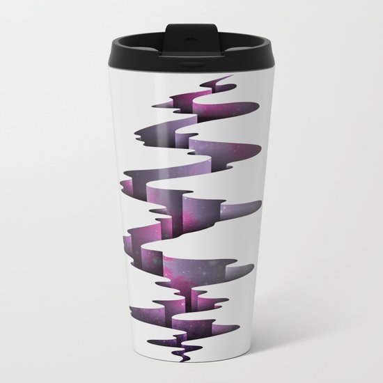 Tectonic Wormhole Metal Travel Mug