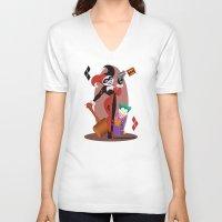 harley quinn V-neck T-shirts featuring Harley Quinn  by Katie Simpson a.k.a. Redhead-K