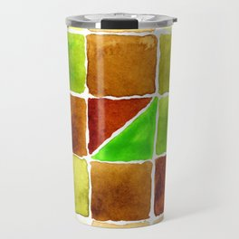Color Chart - Quinacridone Burnt Orange DS and Phthalo Yellow Green DS Travel Mug