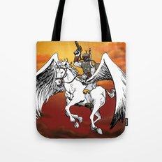 Boba Fett riding Pegasus Tote Bag