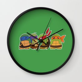 Jellybean Turtles  Wall Clock