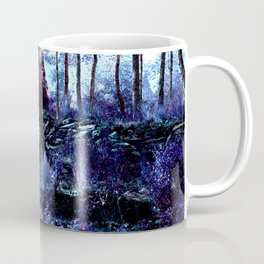 Alien planet sunset in the forest blue indigo purple Coffee Mug