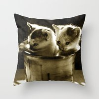 kittens Throw Pillows featuring Kittens by Northern Light Images
