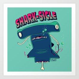 Shark-sicle Art Print