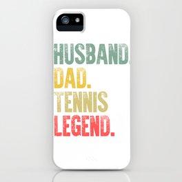 Funny Men Vintage T Shirt Husband Dad Tennis Legend Retro iPhone Case