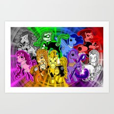 My Little Lanterns - All Art Print