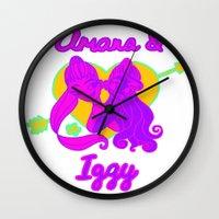 iggy azalea Wall Clocks featuring Ariana Grande Ft. Iggy Azalea #2 by Glopesfirestar