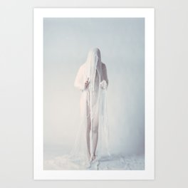 Threads of White-04 Art Print