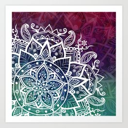 Mandala Free Spirit Spiritual Zen Bohemian Hippie Yoga Mantra Meditation Kunstdrucke