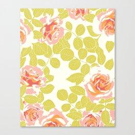 rose garden pink Canvas Print