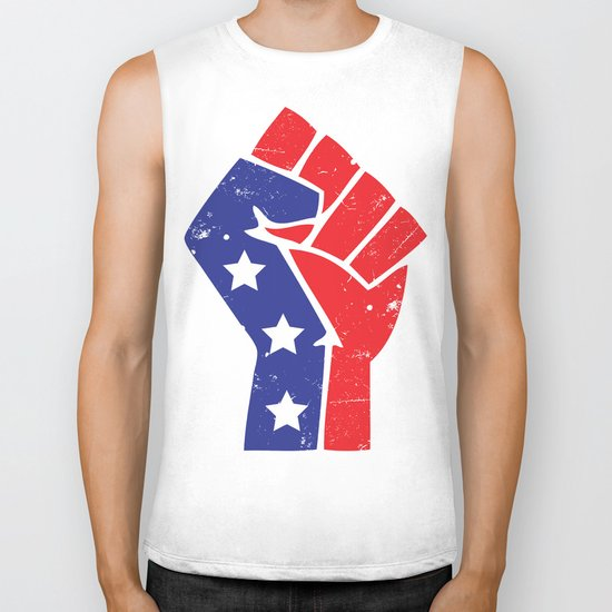 Revoltion Party Fist Biker Tank