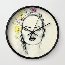 Floral Kiss Wall Clock