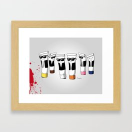 Reservoir Colours (with blood and light colored t-shirts) Framed Art Print