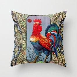 Provencal cock 2 Throw Pillow