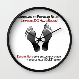 Lawyers Do Have Souls Wall Clock
