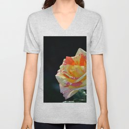 Autumn Rose by Teresa Thompson Unisex V-Neck