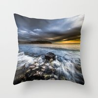 justice Throw Pillows featuring Justice by HappyMelvin