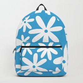 Tiare Flower Sky Blue Backpack