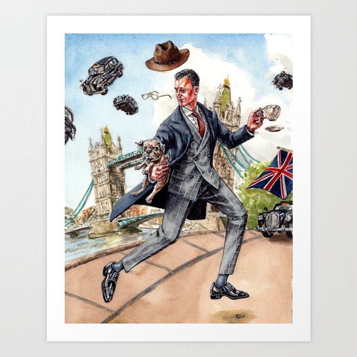Kingsman x Mr Porter in Jolly England Art Print