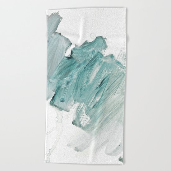 brushstrokes 11 aquamarine Beach Towel