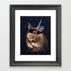 Ninja Hamster Framed Art Print