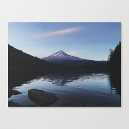 Waiting for Moonset Canvas Print