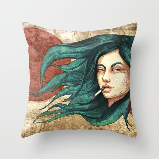 """""""Lune Dust"""" by carographic Throw Pillow"""