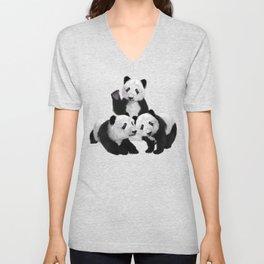 Panda Bear Cubs Love Unisex V-Neck