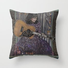 Loretta Lynn Throw Pillow