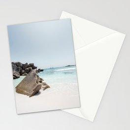 Paradise beach Anse Coconut La Digue Seychelles  Stationery Cards