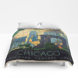 Vintage poster - Chicago Comforters
