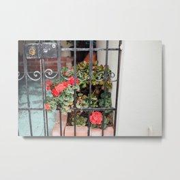 front porch flowers Metal Print