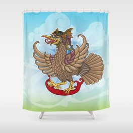 'Jatayu' or Eagle on the story of the Ramayana Shower Curtain