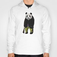 suits Hoodies featuring Animals in Suits - Giant Panda by Katadd