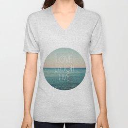 Love Laugh Live #2 Unisex V-Neck
