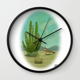 Mexican fox Wall Clock