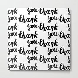 Thank you handwritten vector illustration Metal Print