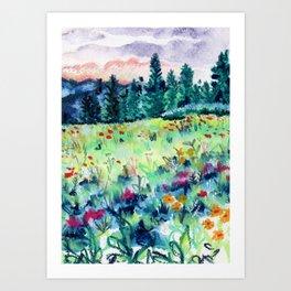 Buffalo Wildflowers - 9 Art Print