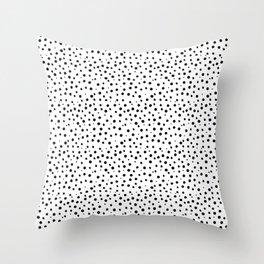 Tiny Doodle Dots Throw Pillow