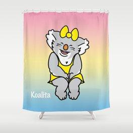 Smiling Koalita Shower Curtain