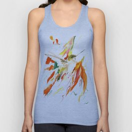 Flying Hummingbird Unisex Tank Top
