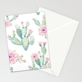 Simply Cactus Rose Stationery Cards
