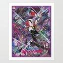 Spider-Gwen Geek Art Comic Collage Superhero Comic Book Art by comic2canvas