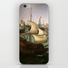 "Hendrick Cornelisz Vroom ""The meeting of Frederic V and Elizabeth Stuart on the sea"" iPhone Skin"