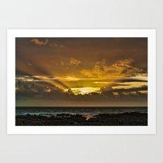 Croyde Bay Art Print