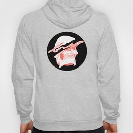 Liquify Skull in black and living coral Hoody