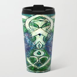 Celtic Peacocks Travel Mug